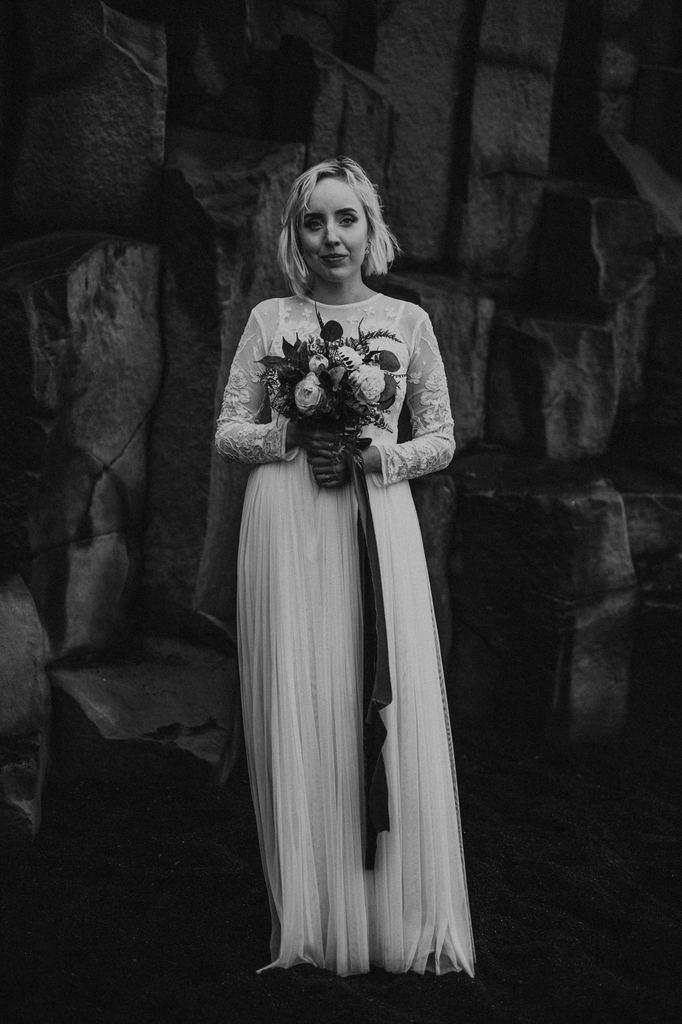 bridal portrait with bouquet.