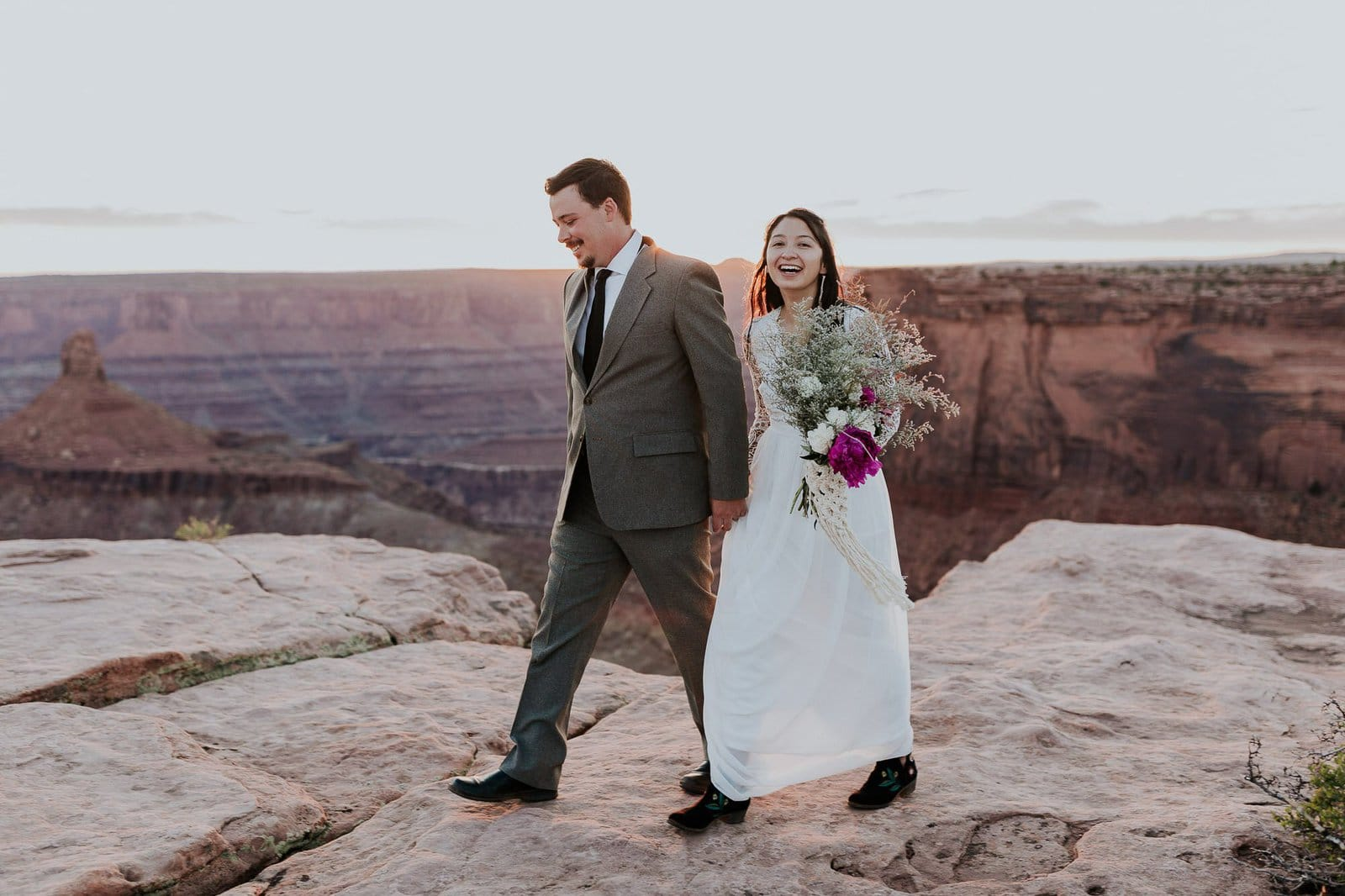 Adventure wedding photography in Utah.