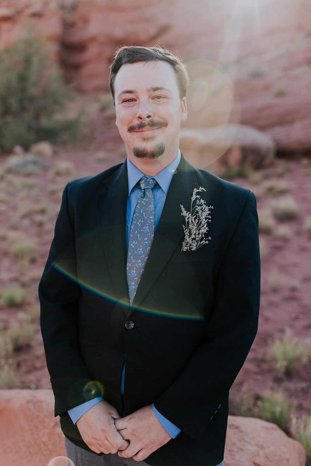 Groom portrait at Moab, Utah