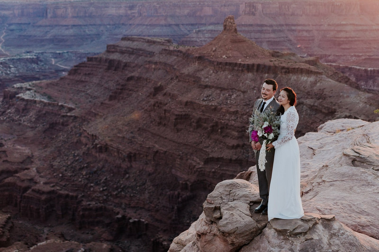 Elopement in the desert of Utah.
