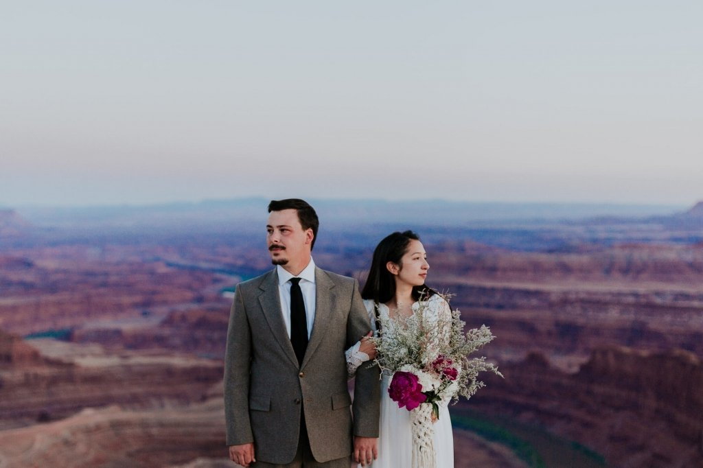 Detail photography of bride and groom at Utah.