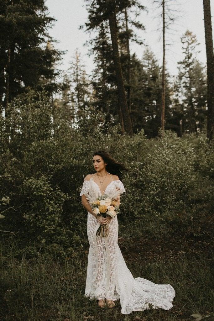 Boho bridal portraits