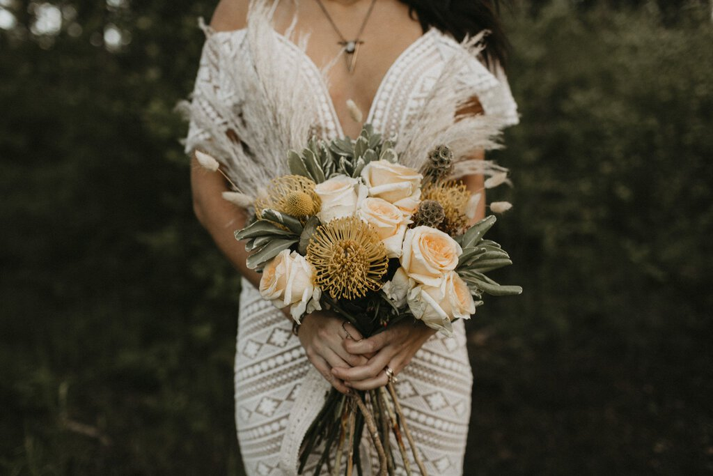 rustic inspired bridal bouquet.