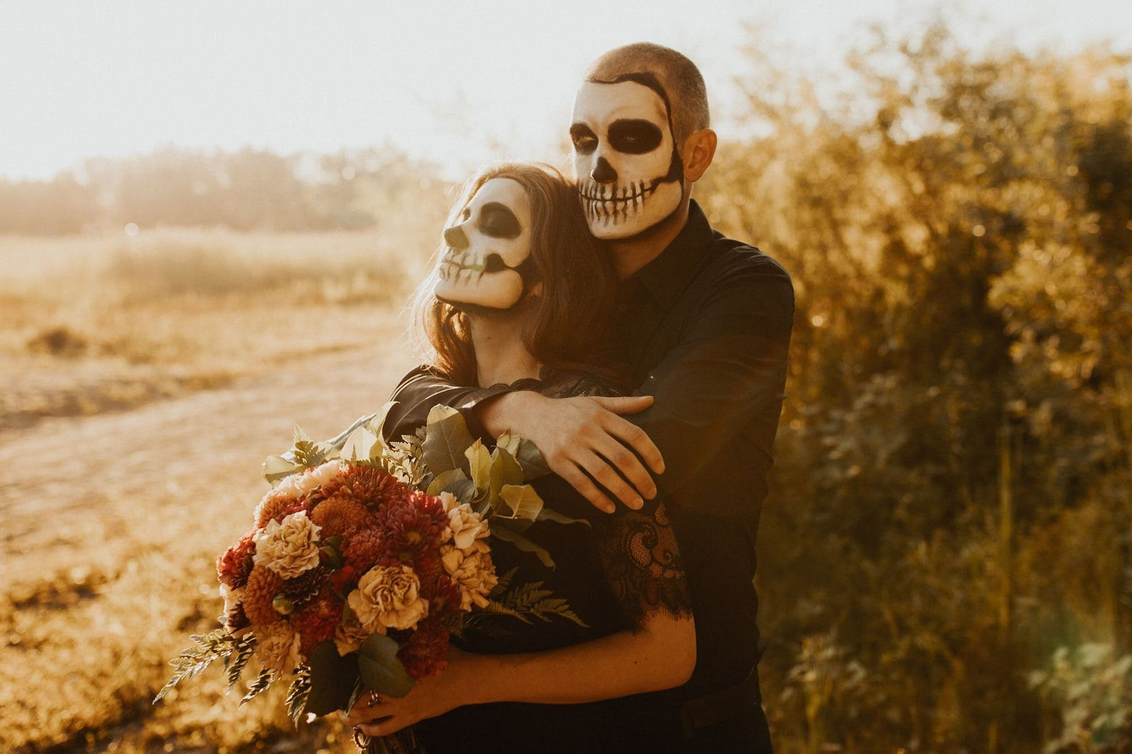 Intimate halloween couple session.