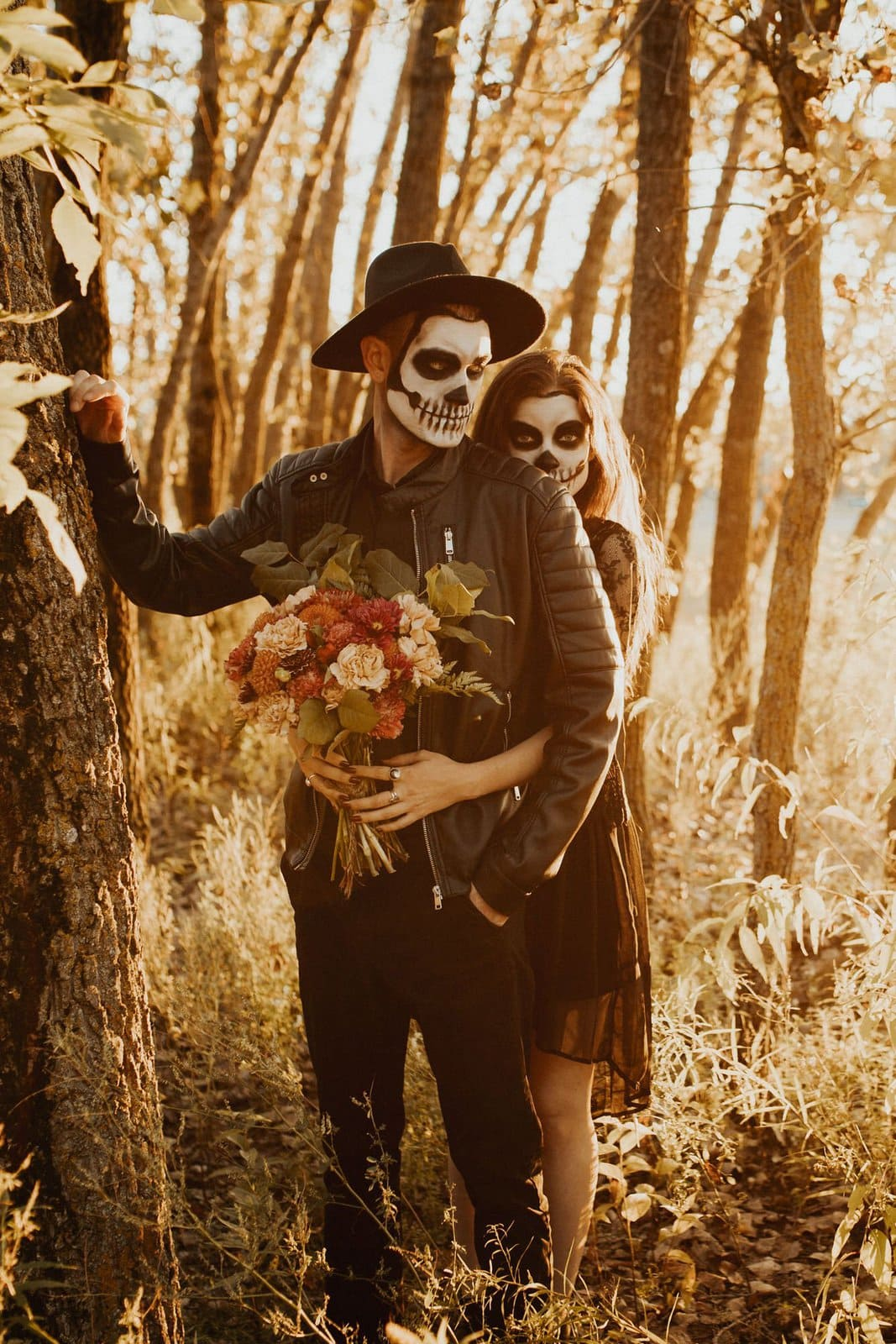 Romantic photography during seasonal shoot.