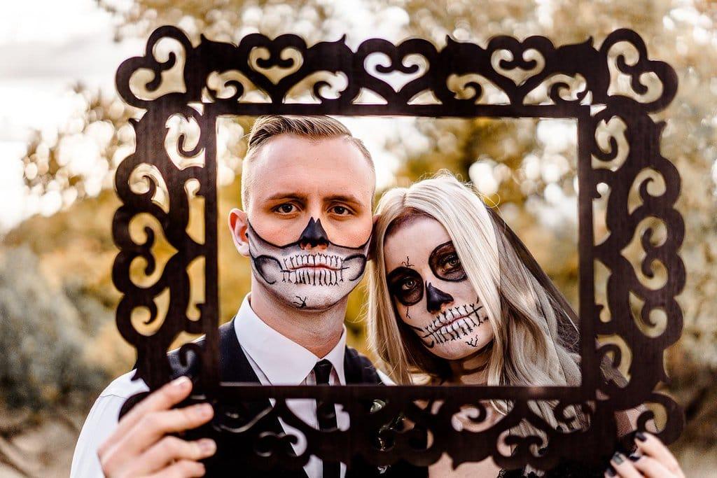 Halloween bridal portrait.