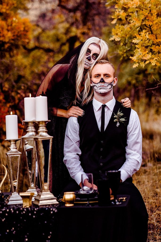Spooky and Stylish Halloween Elopement Inspiration
