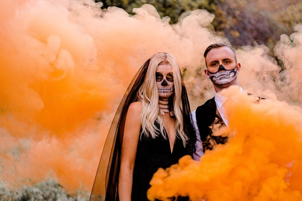 Halloween inspired smoke bomb picture.