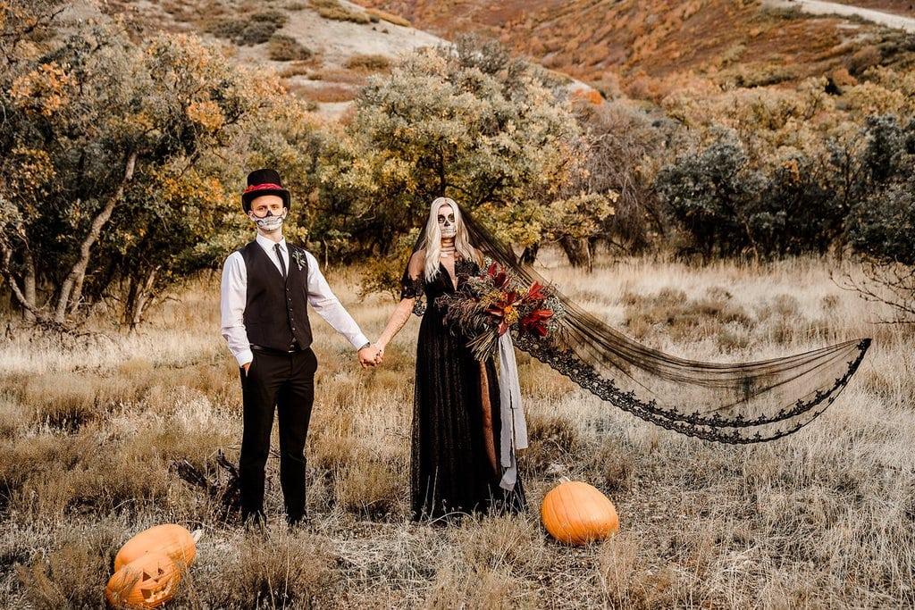 Halloween intimate elopement.