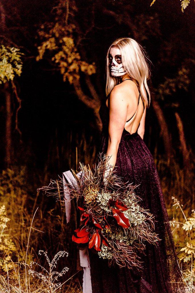 bridal portrait in wedding dress.