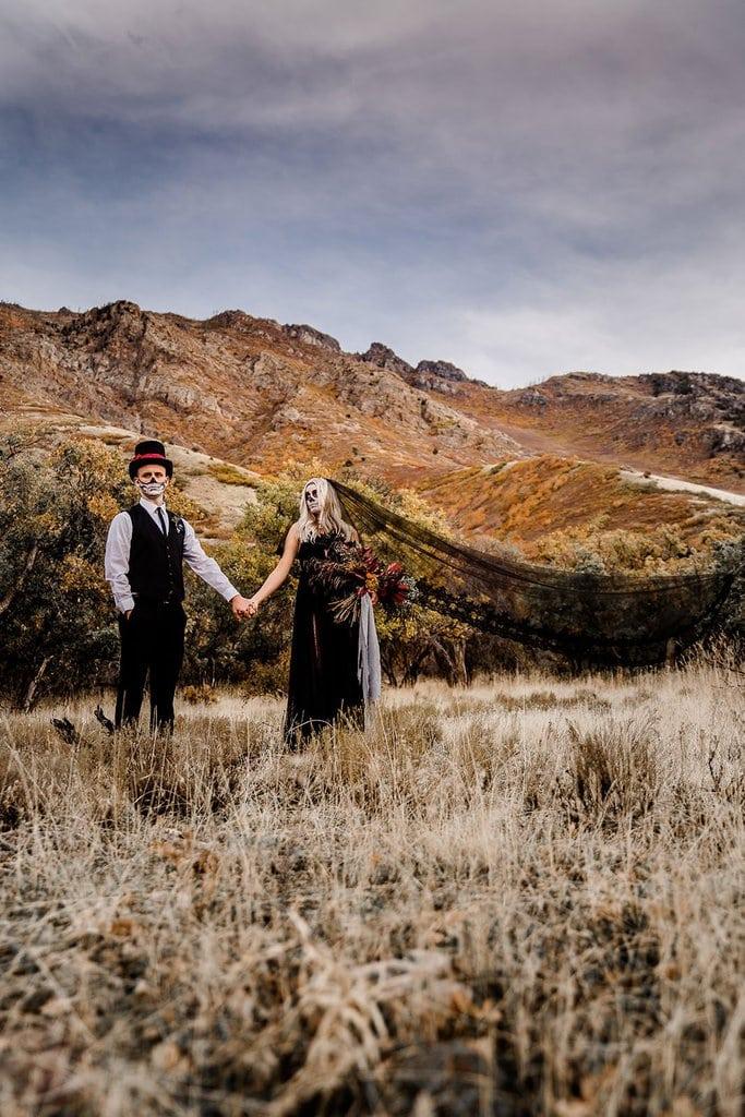October inspiration for elopement.