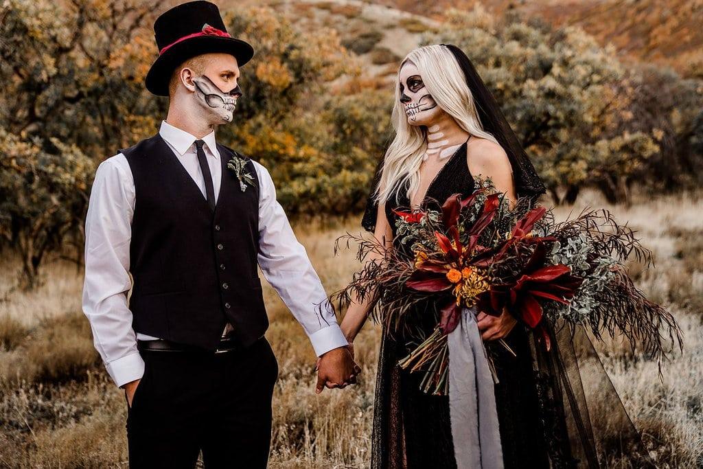 Bridal portrait Halloween styled shoot.