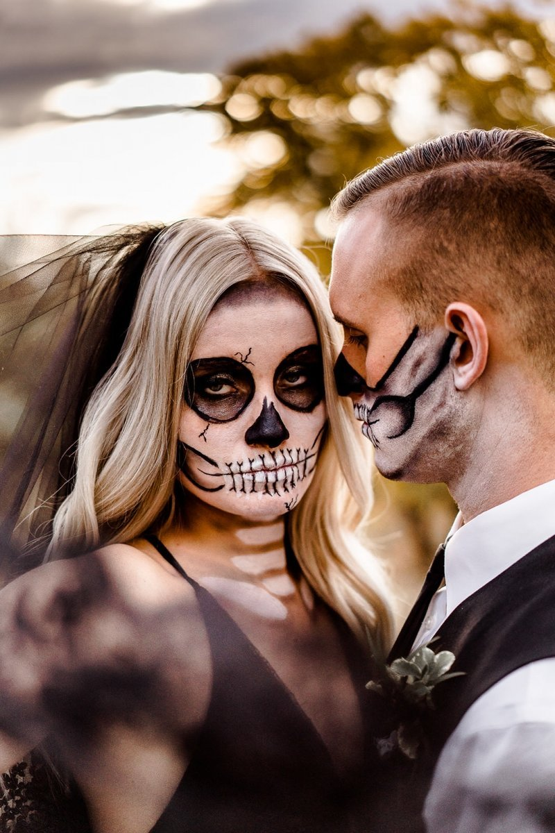 Bridal photography for Halloween inspiration.