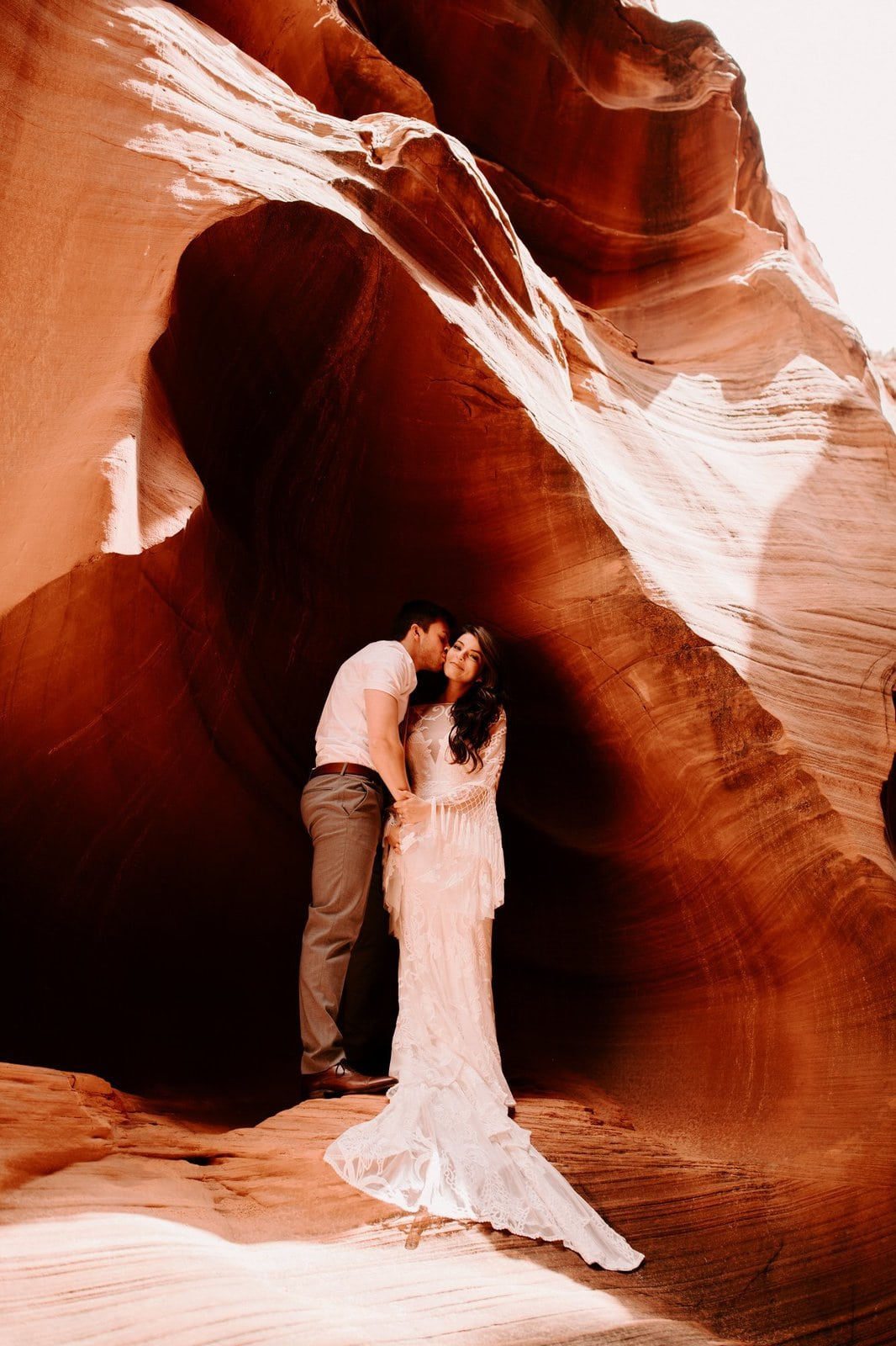 Antelope canyon elopement.