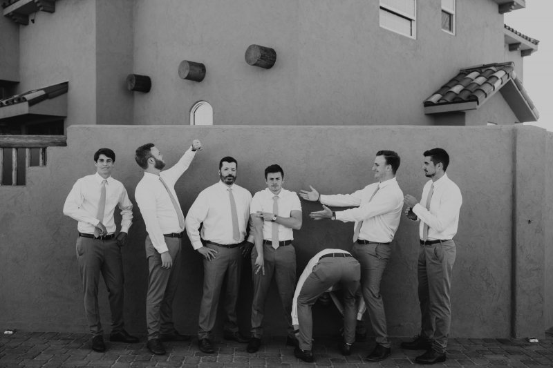 groomsmen personality shots.