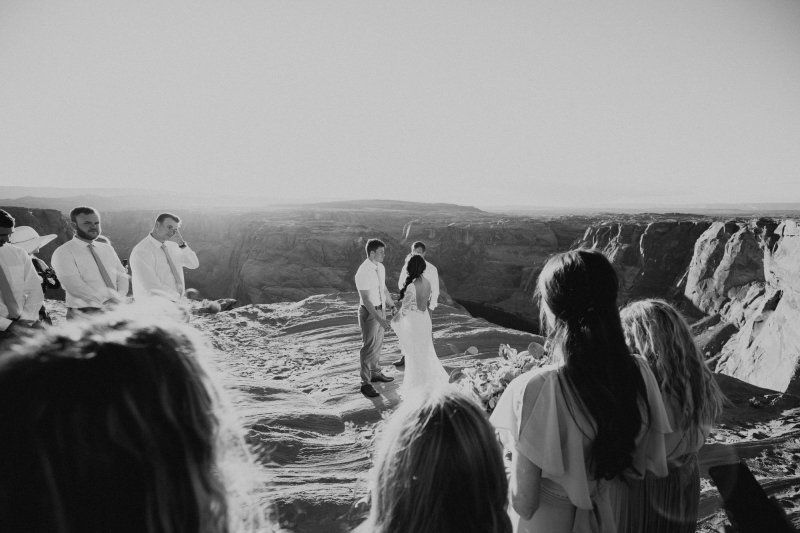 Wedding ceremony photography for elopement.