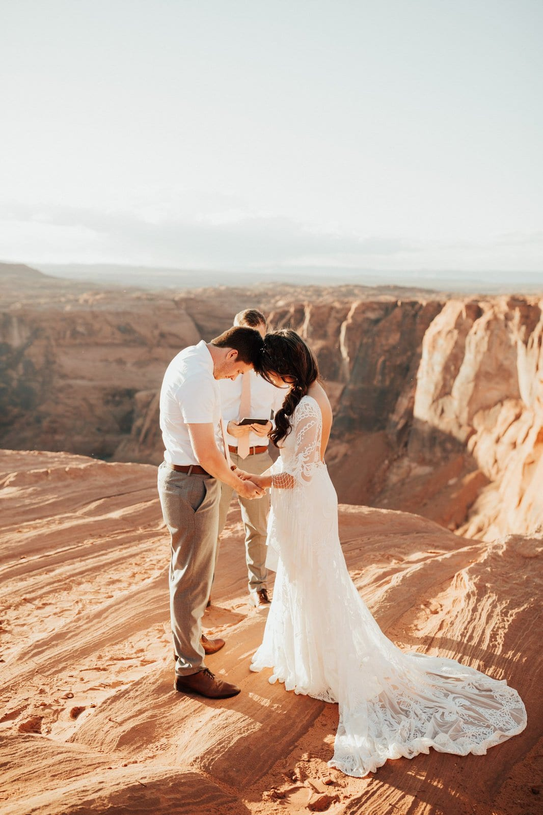 Intimate elopement at Horseshoe Bend.
