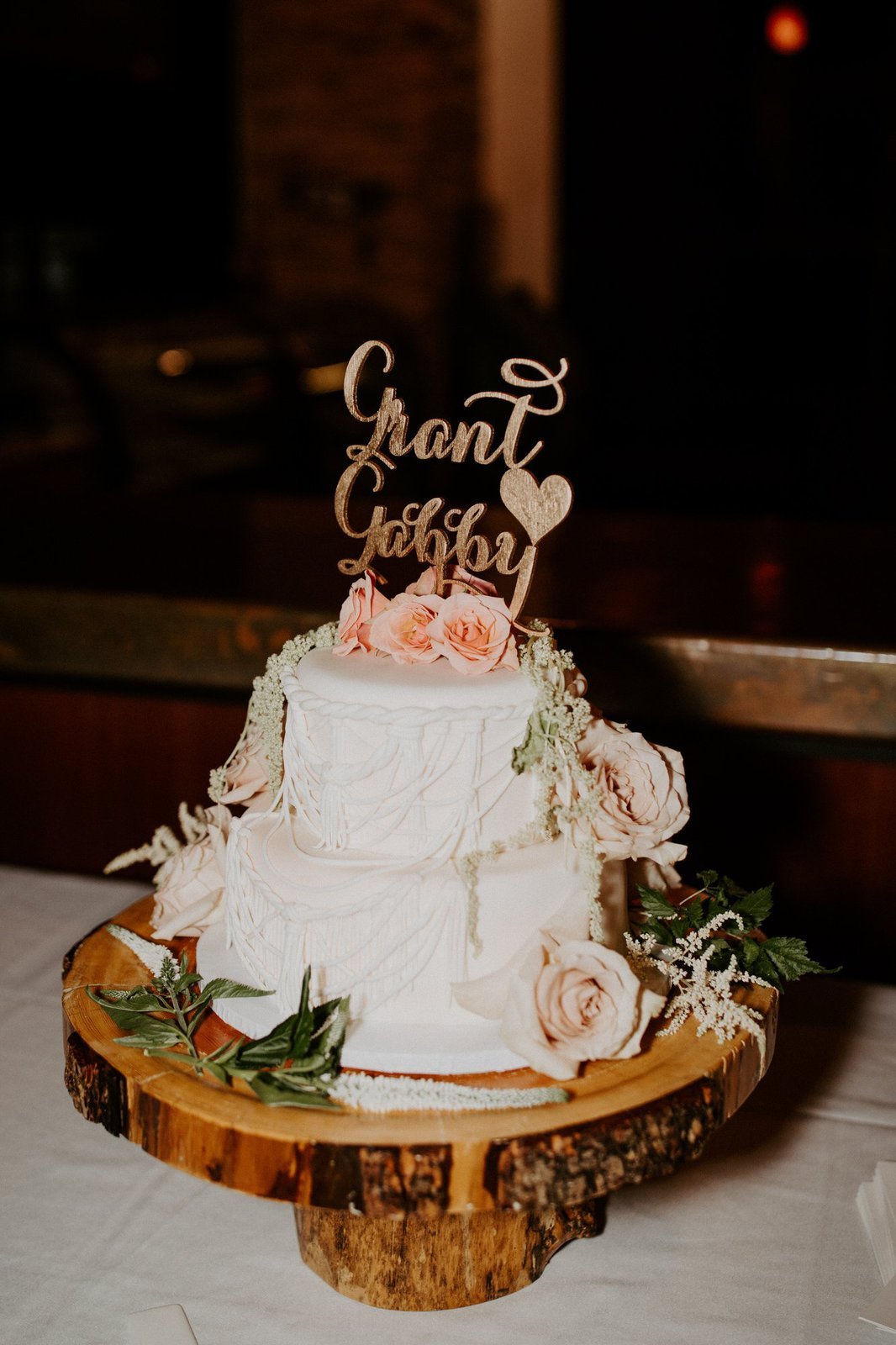 Detail photography of wedding cake.