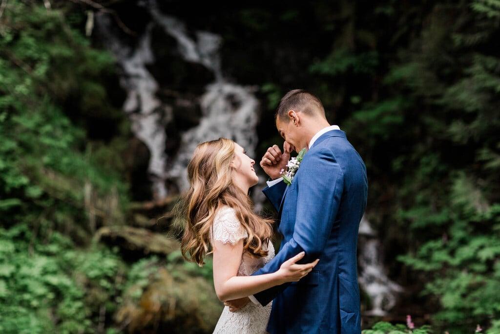 Washington intimate wedding photography.