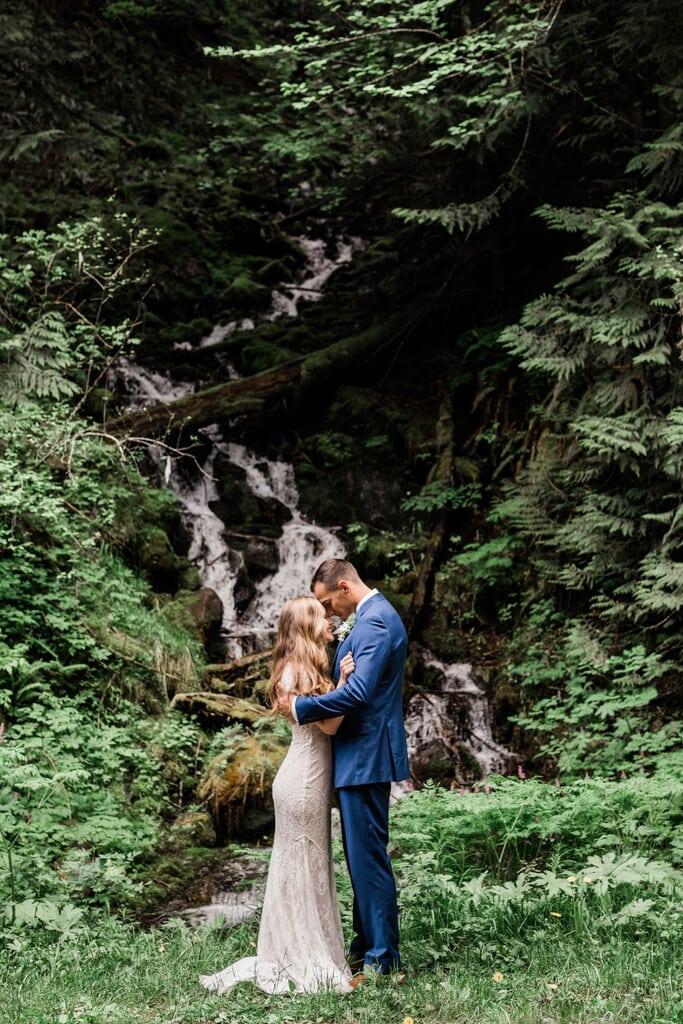bride and groom intimate wedding.