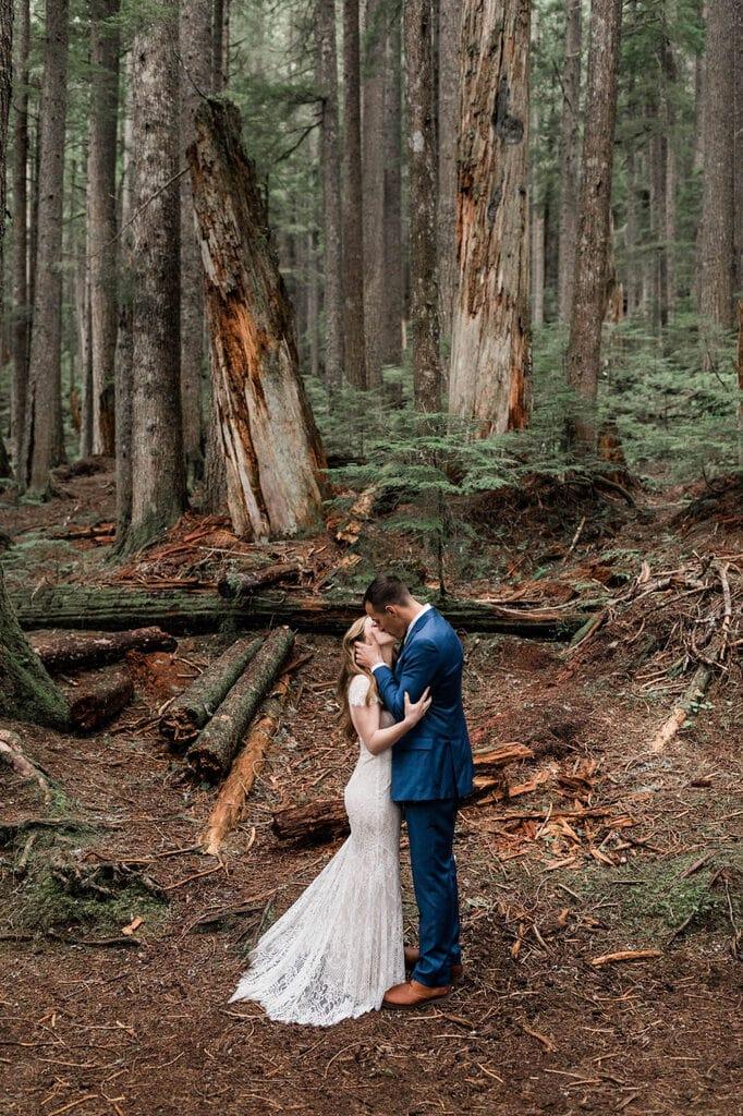 intimate elopement at Mount Rainier National Park.