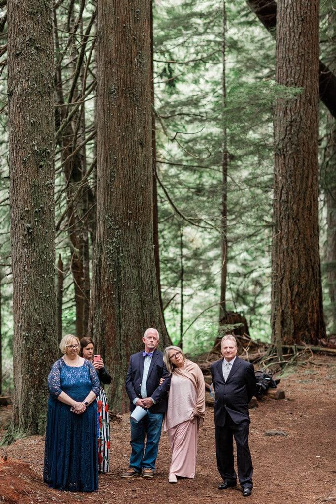 intimate wedding at Mount Rainier national park.