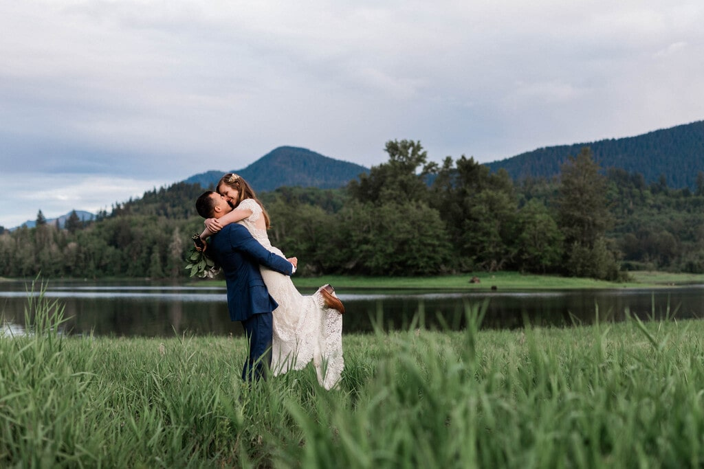 bride and groom photography in Washington.
