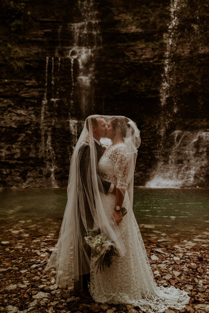 Elopement inspiration with veil.