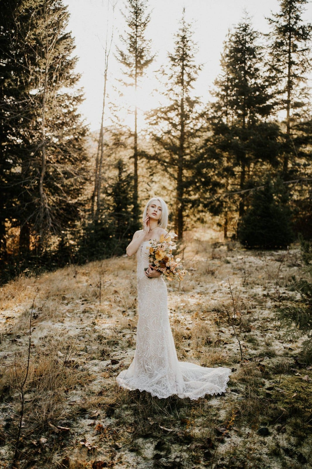 Piper boho wedding gown.