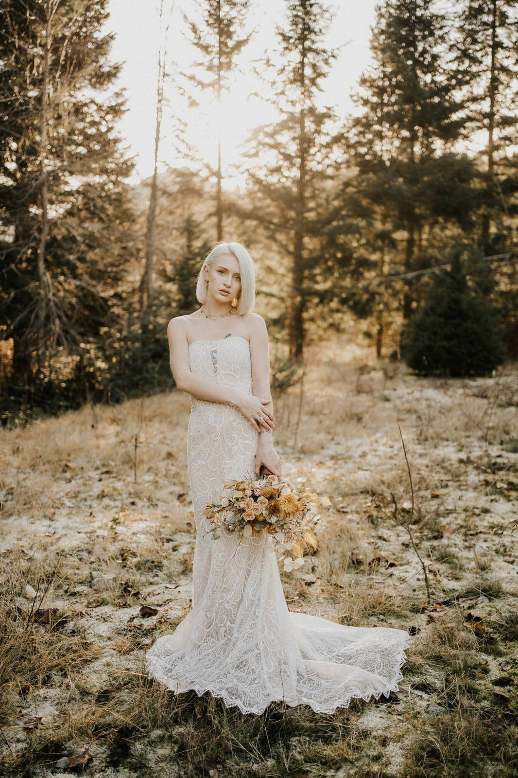 Bridal photography of essense of australia dress.