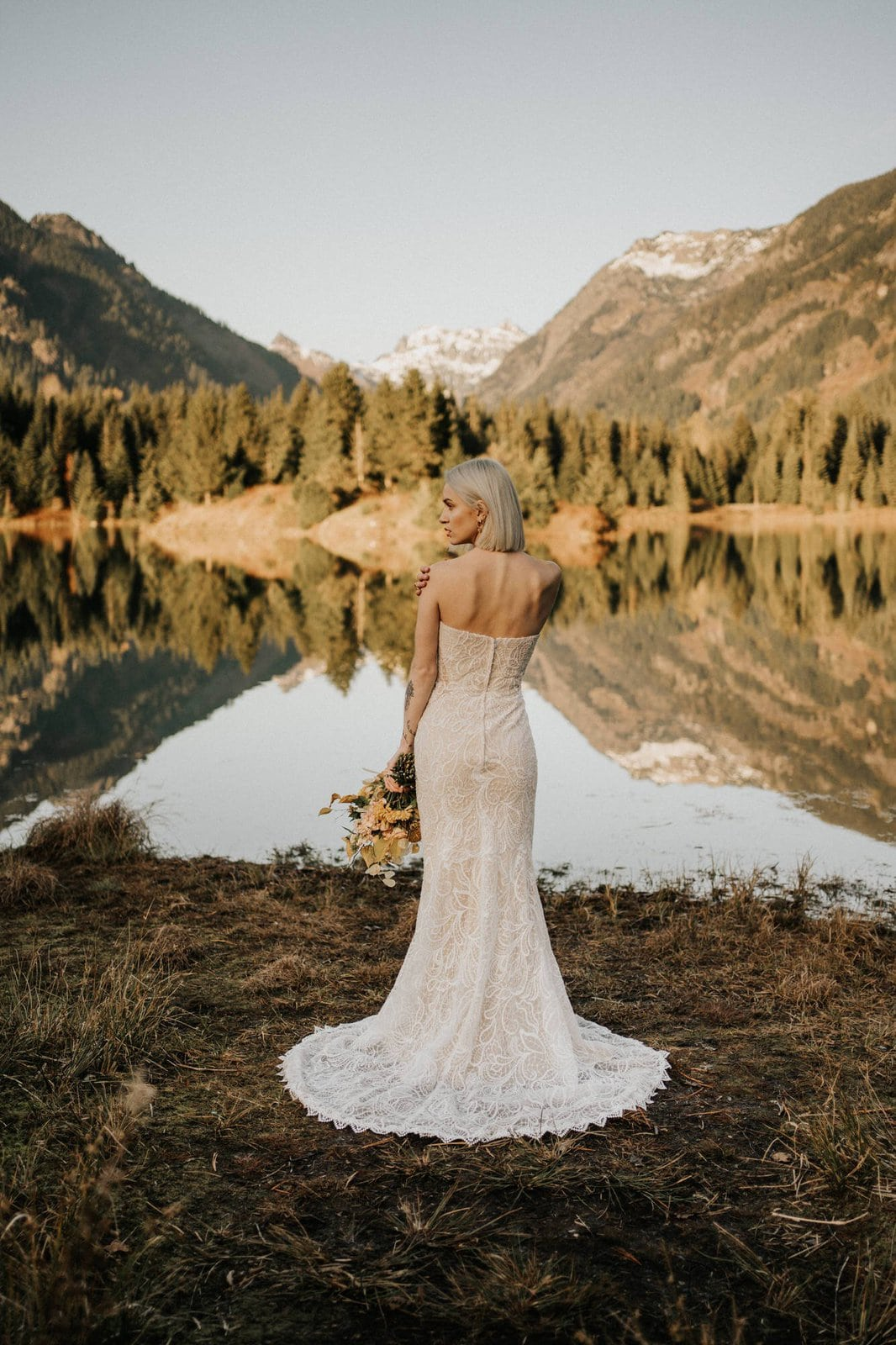 All who wander boho wedding dress.