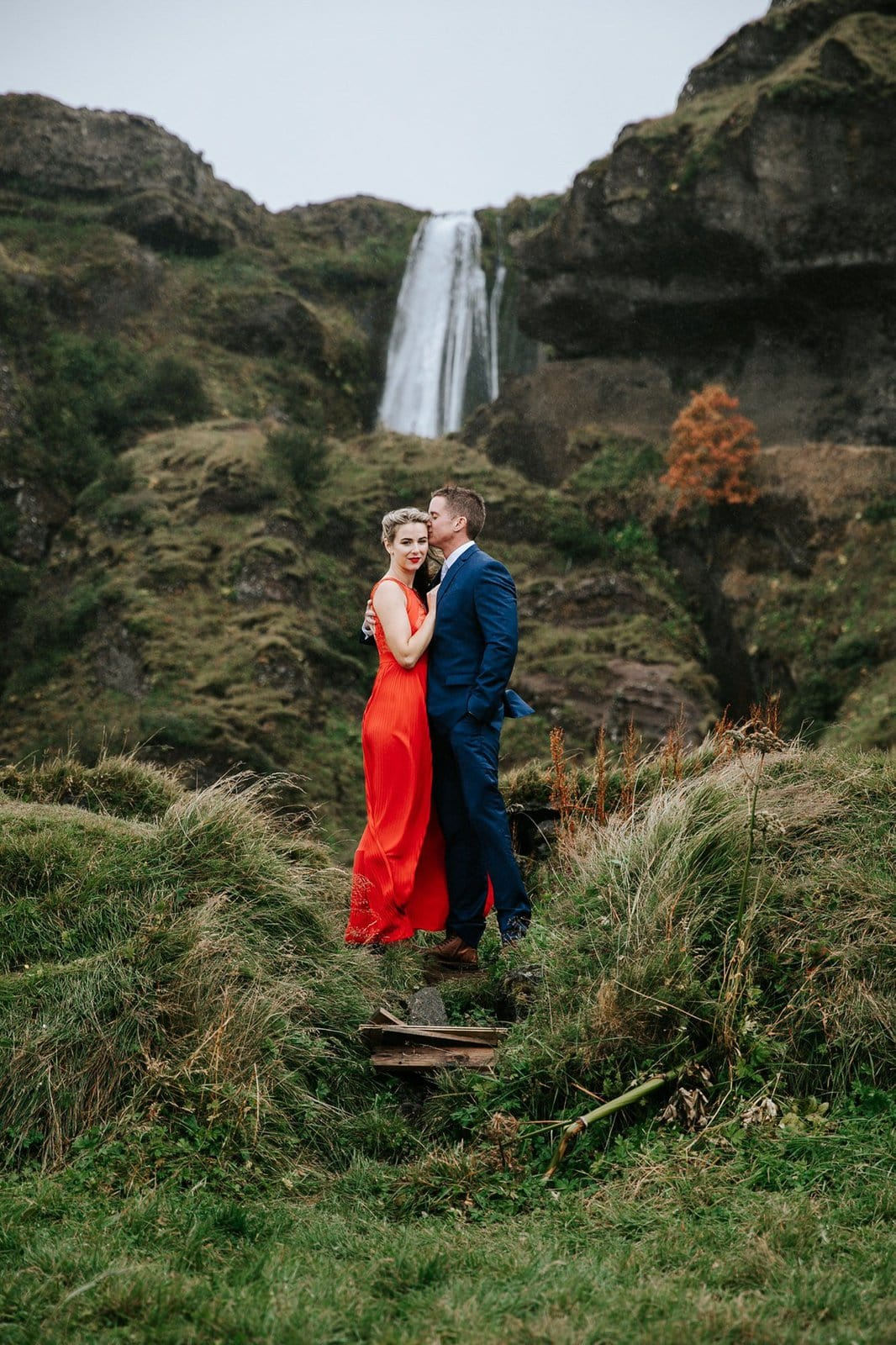 Intimate wedding in Iceland.