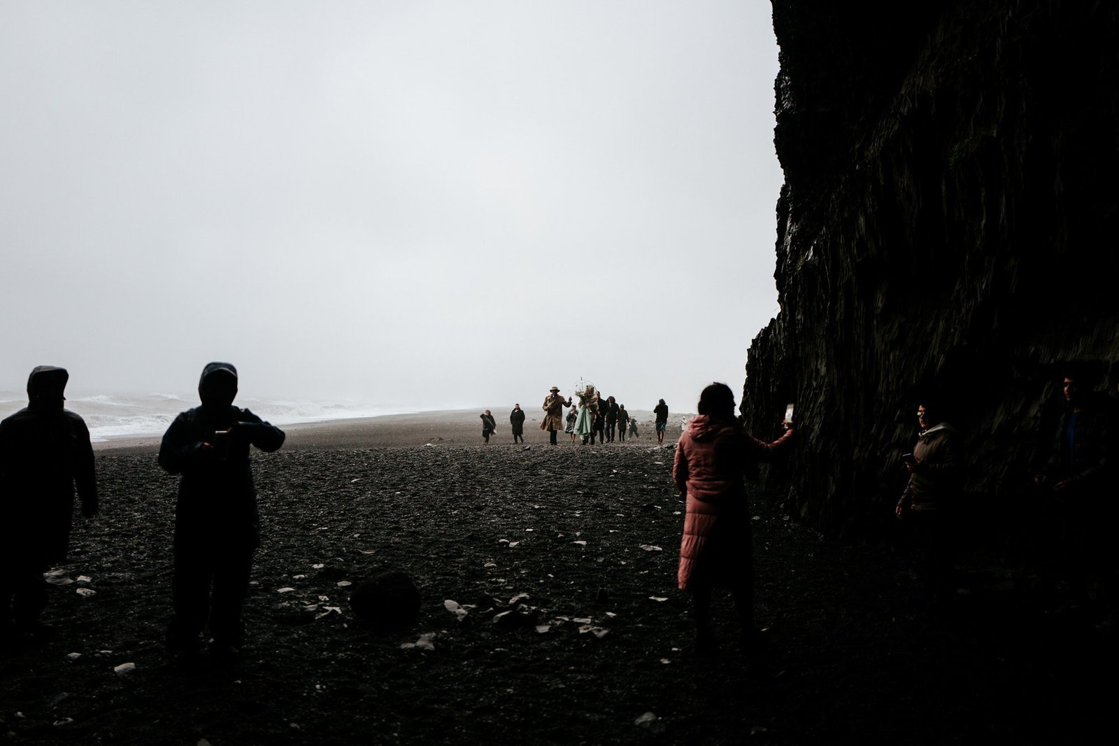 intimate rainy Iceland elopement.