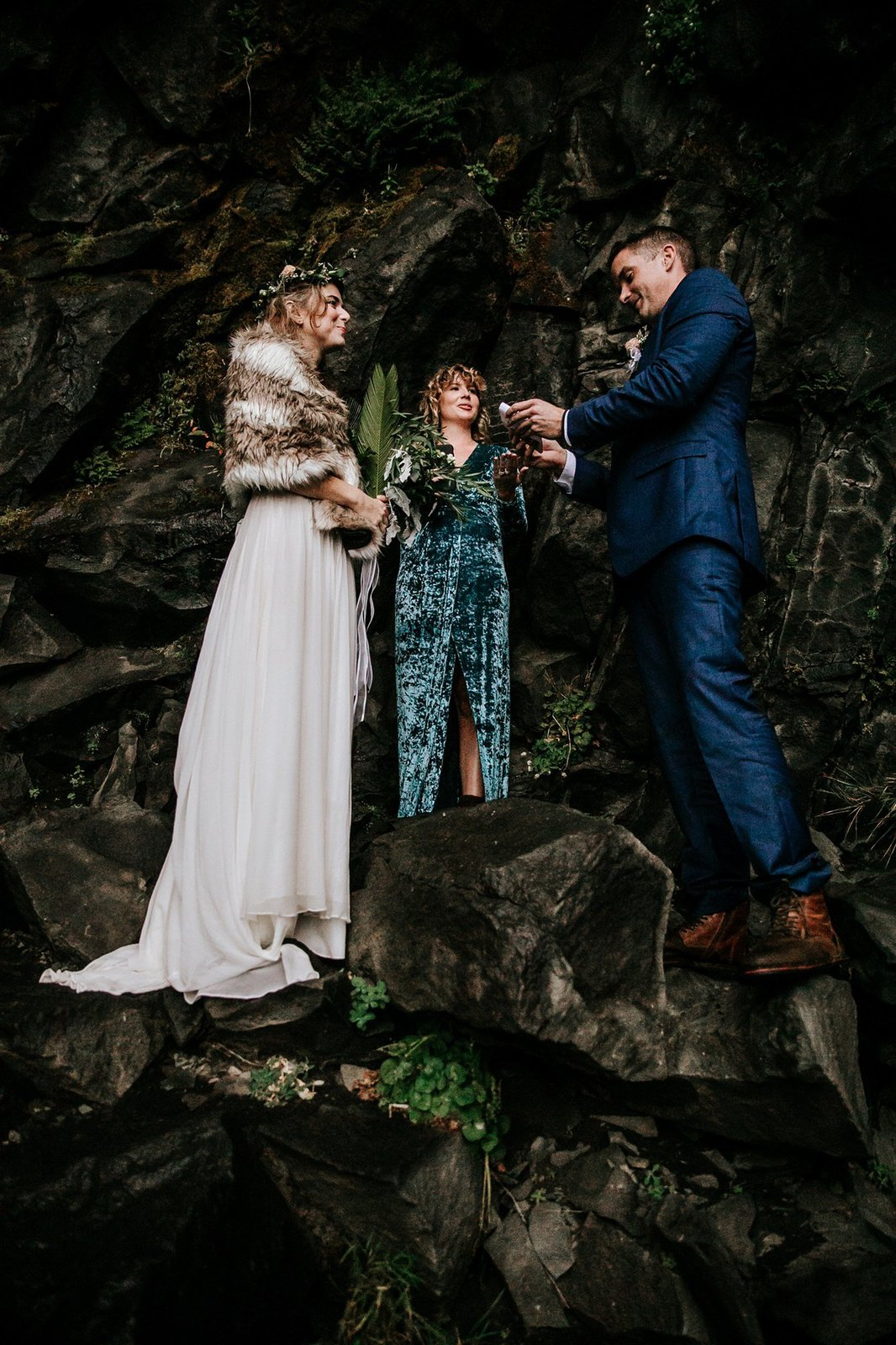 Iceland elopement ceremony.