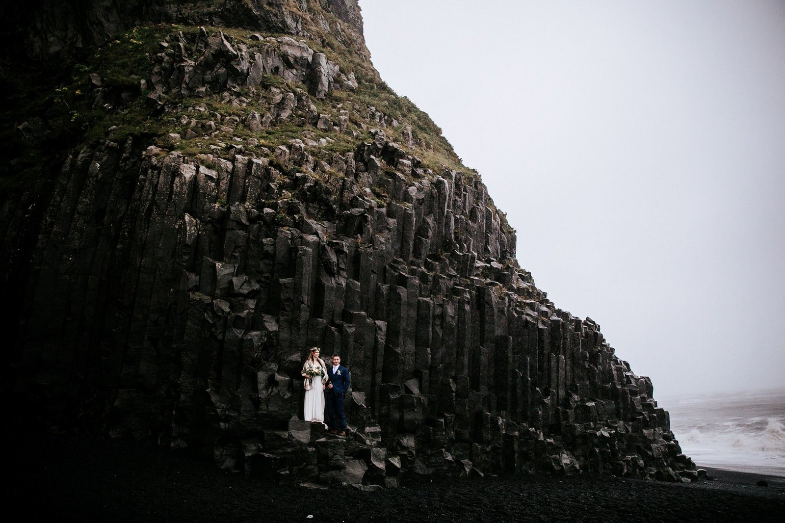 Rainy Iceland elopement photography.
