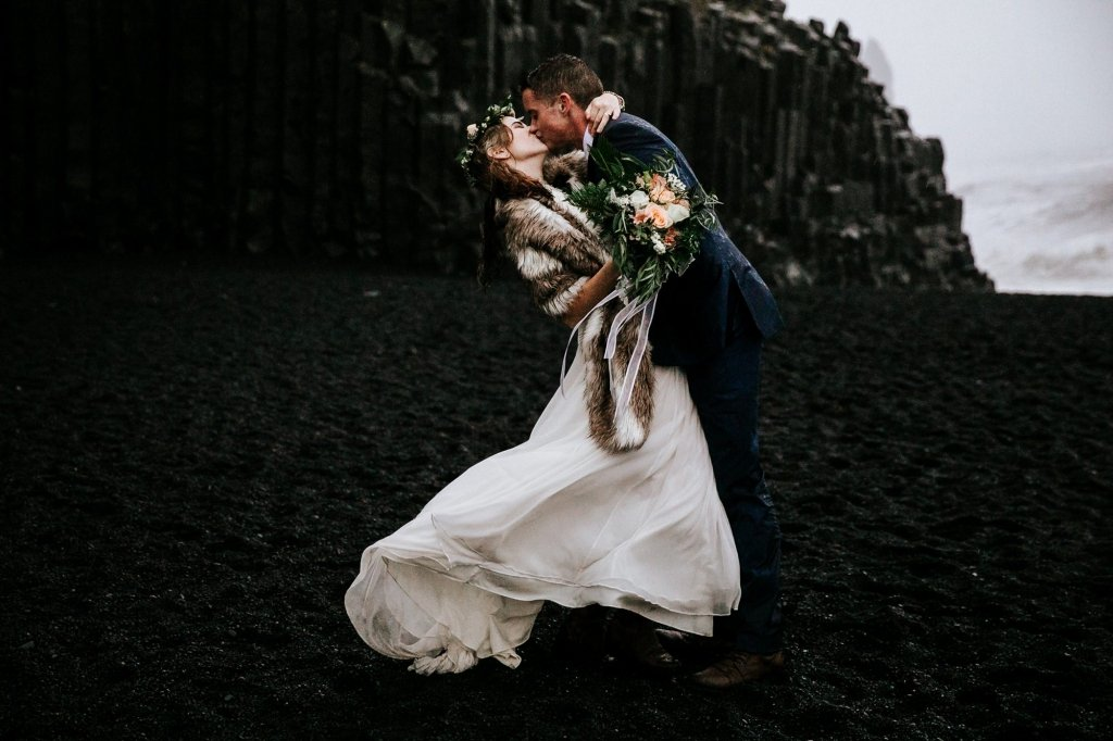 elopement portraits in Iceland.