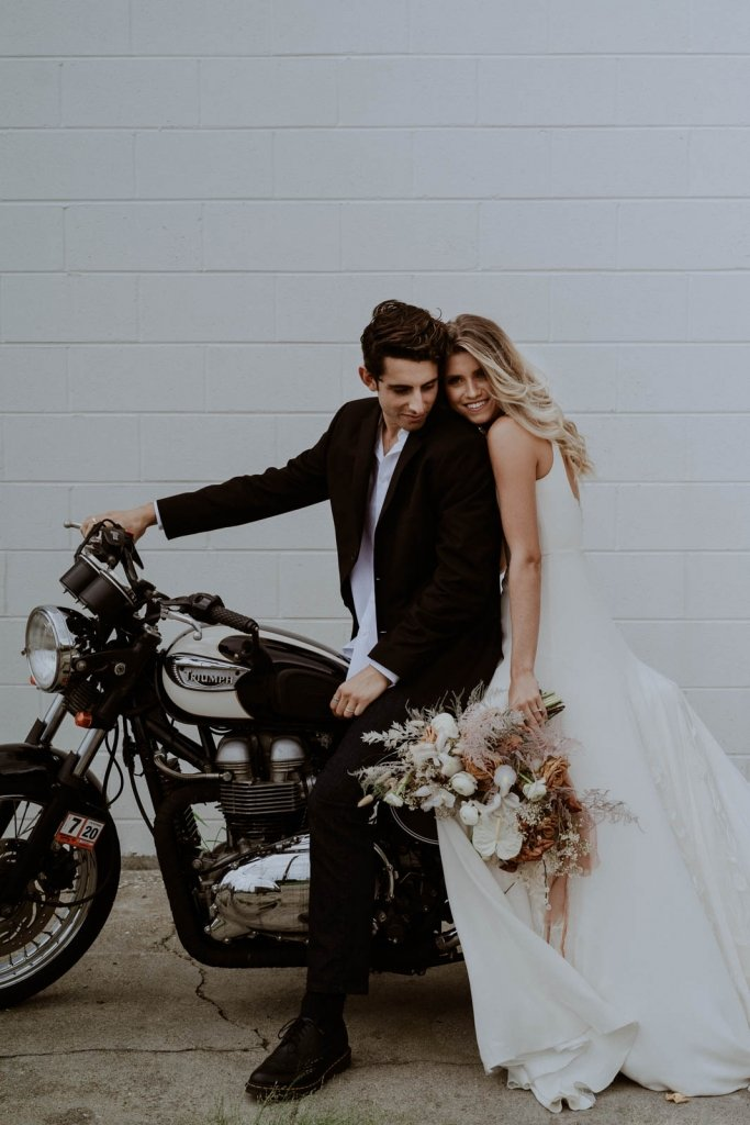 Fun motorcycle inspiration for elopements.
