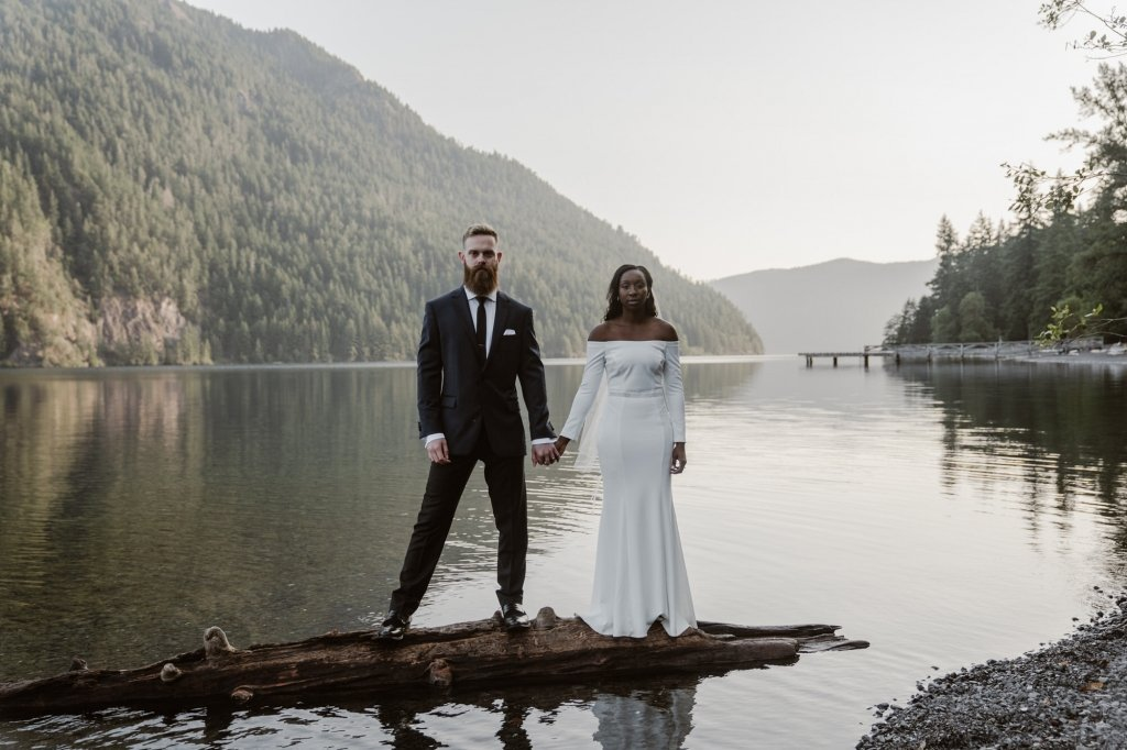 Lake Crescent wedding photography.