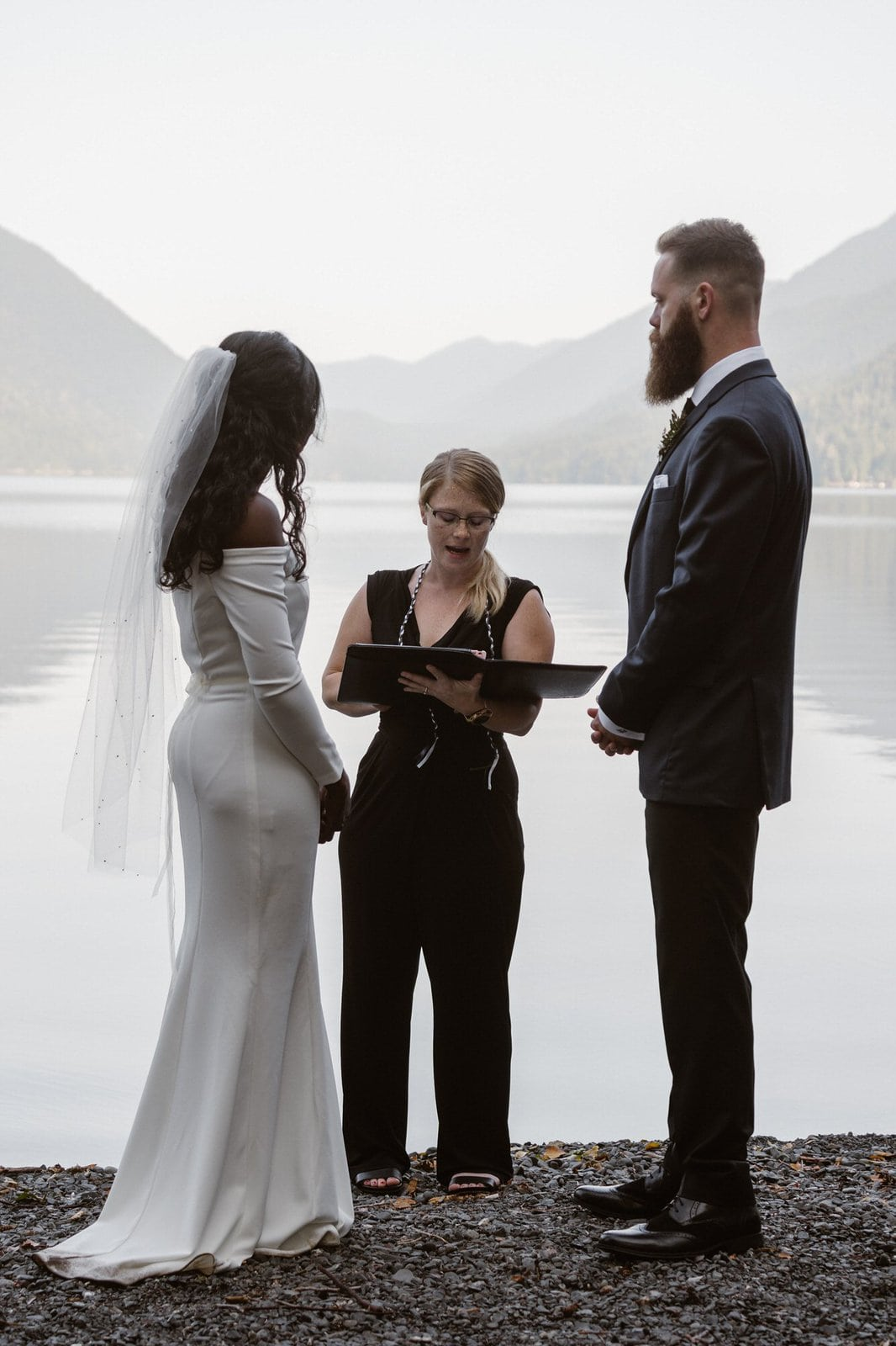 Intimate ceremony at Olympic National Park in Washington.