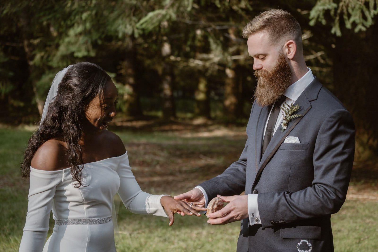 Fun wedding photography.