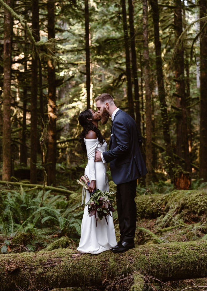 Intimate wedding at Olympic National Park.