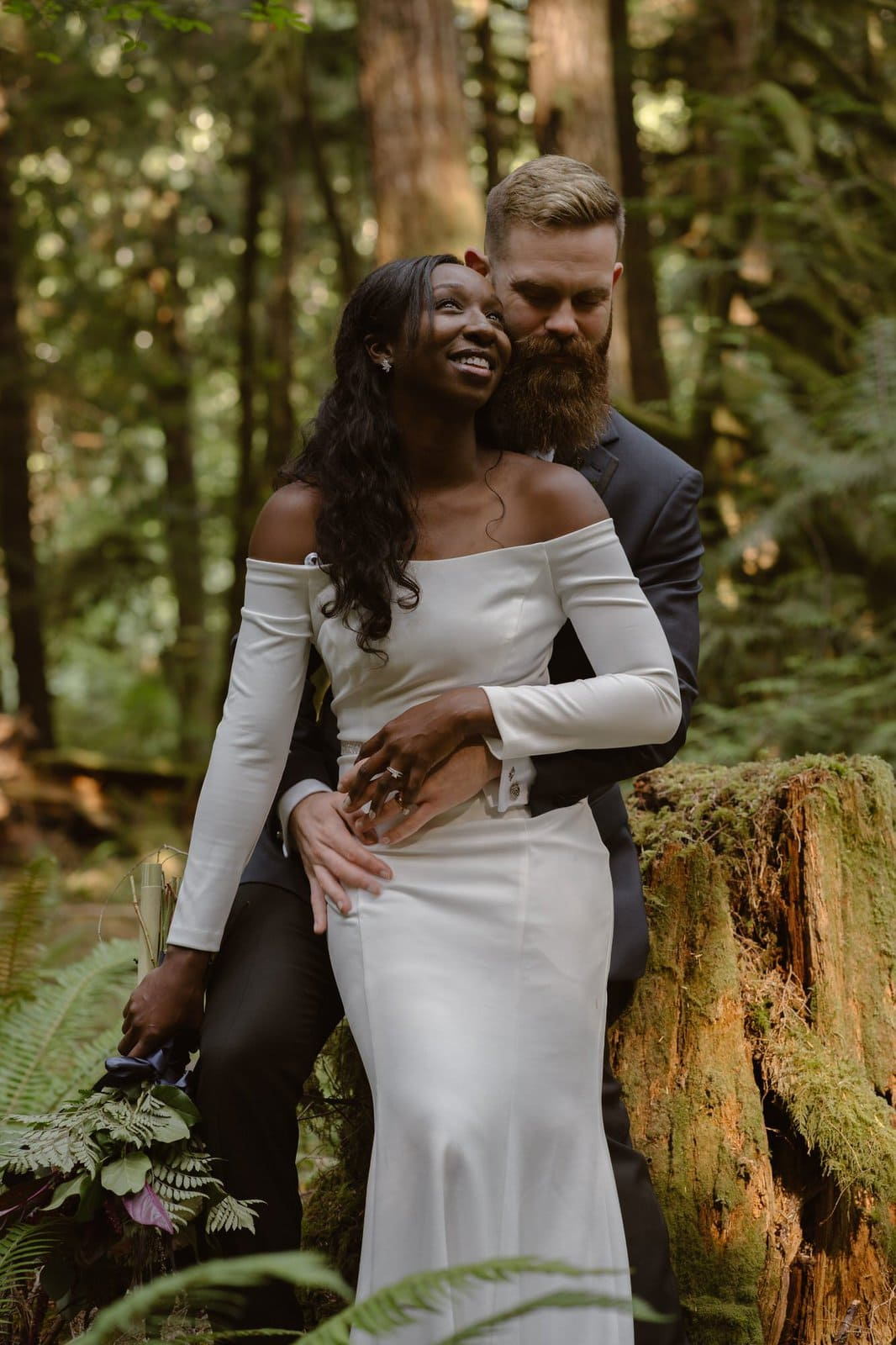 Bridal portraits in Washington park.