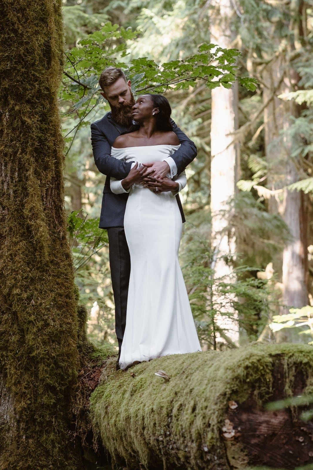 Bride and groom photography at Olympic National Park.
