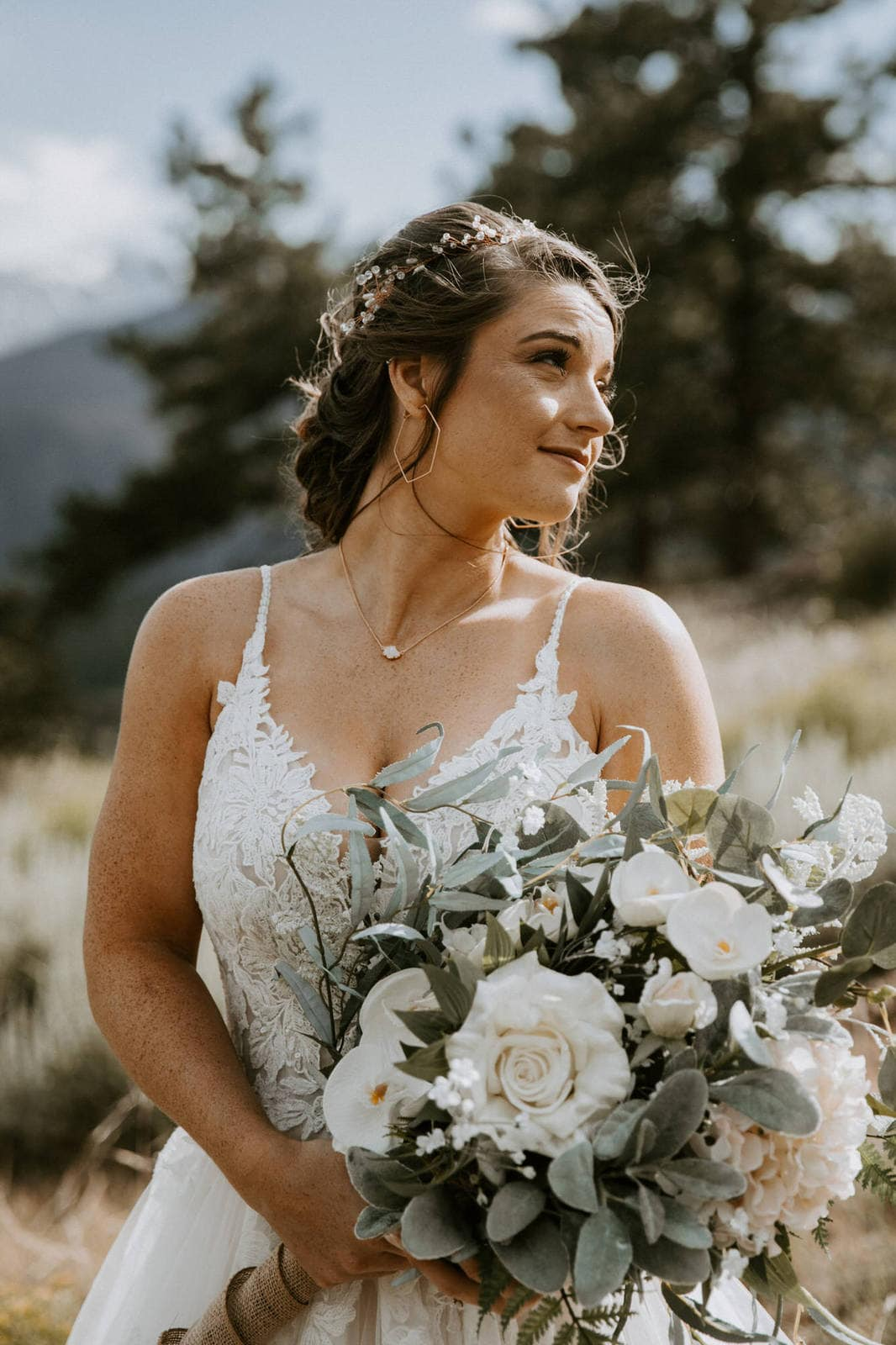 Bridal photography in Rocky Mountain.