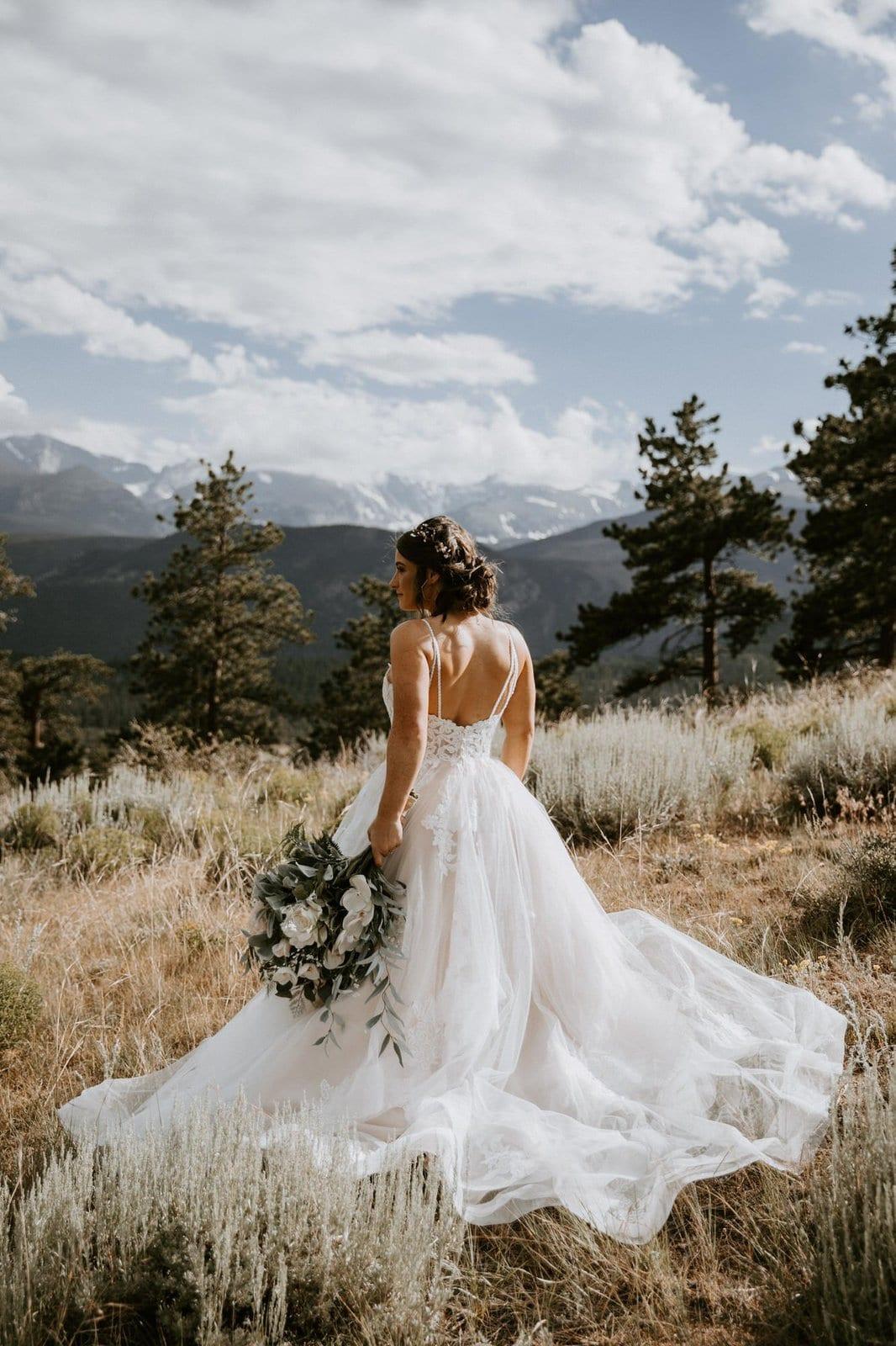 Essence of Australia dress in Rocky Mountain National Park.