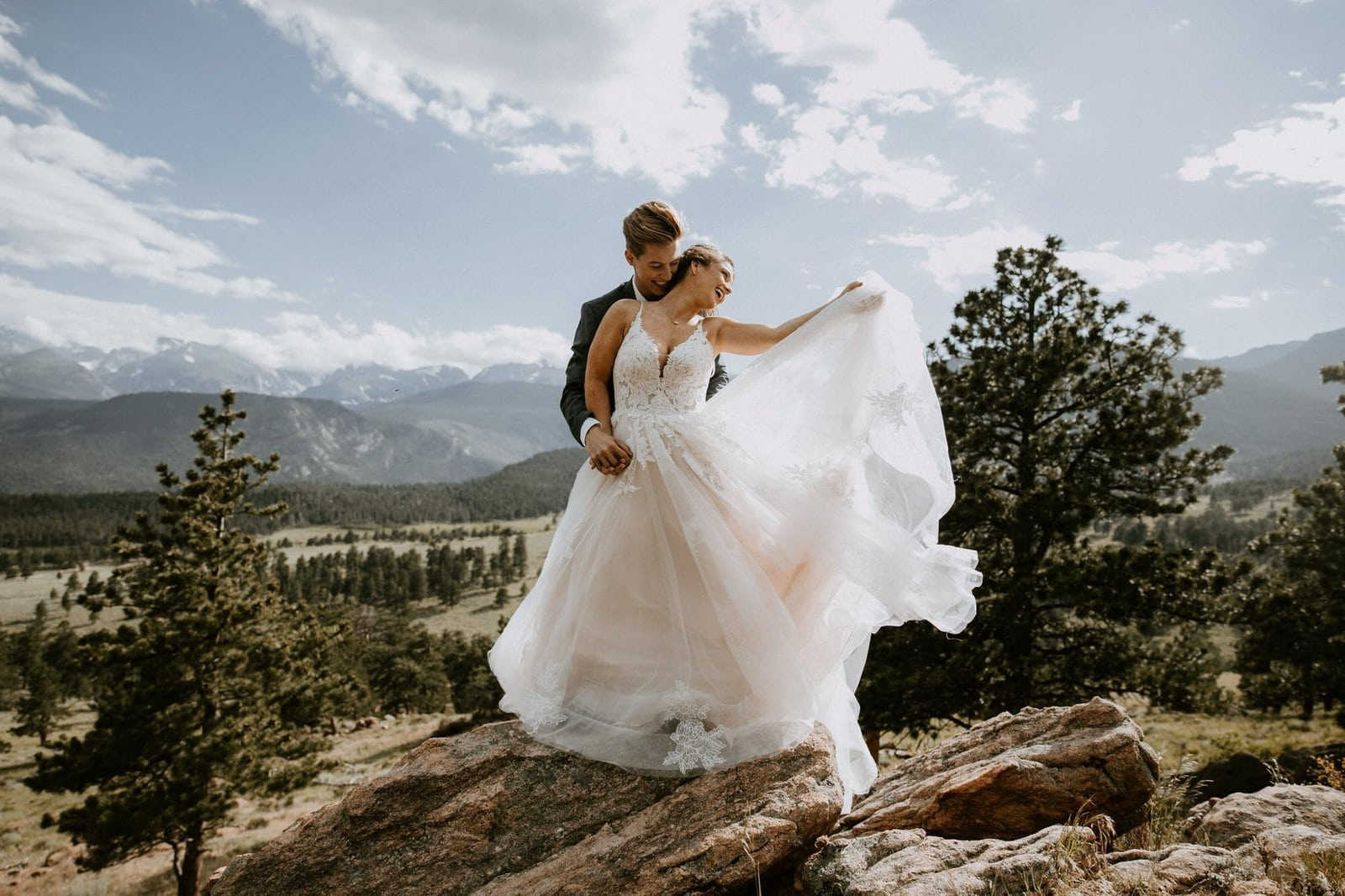 Rocky mountain bridal photography.