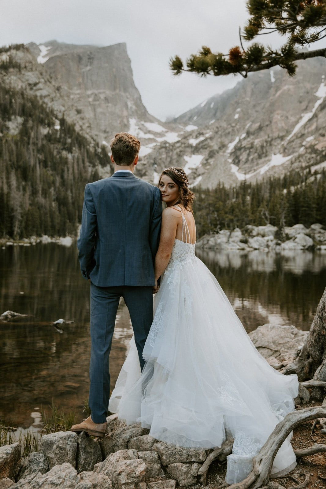 Intimate wedding at Rocky Mountain National Park
