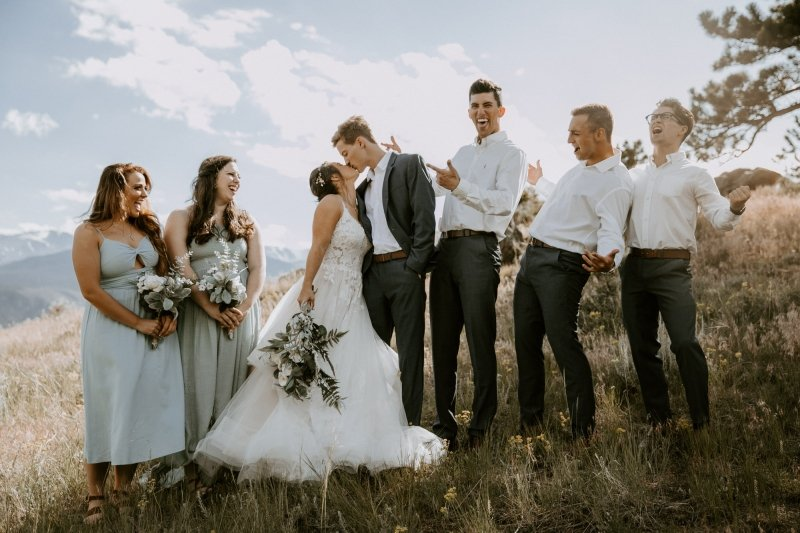 Fun portraits with the bridal party.