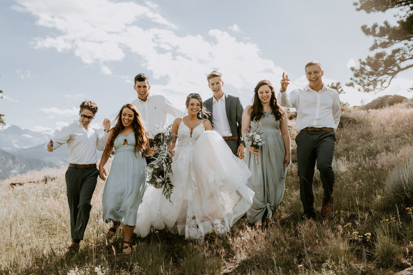 Bridal party at Rocky Mountain National Park.