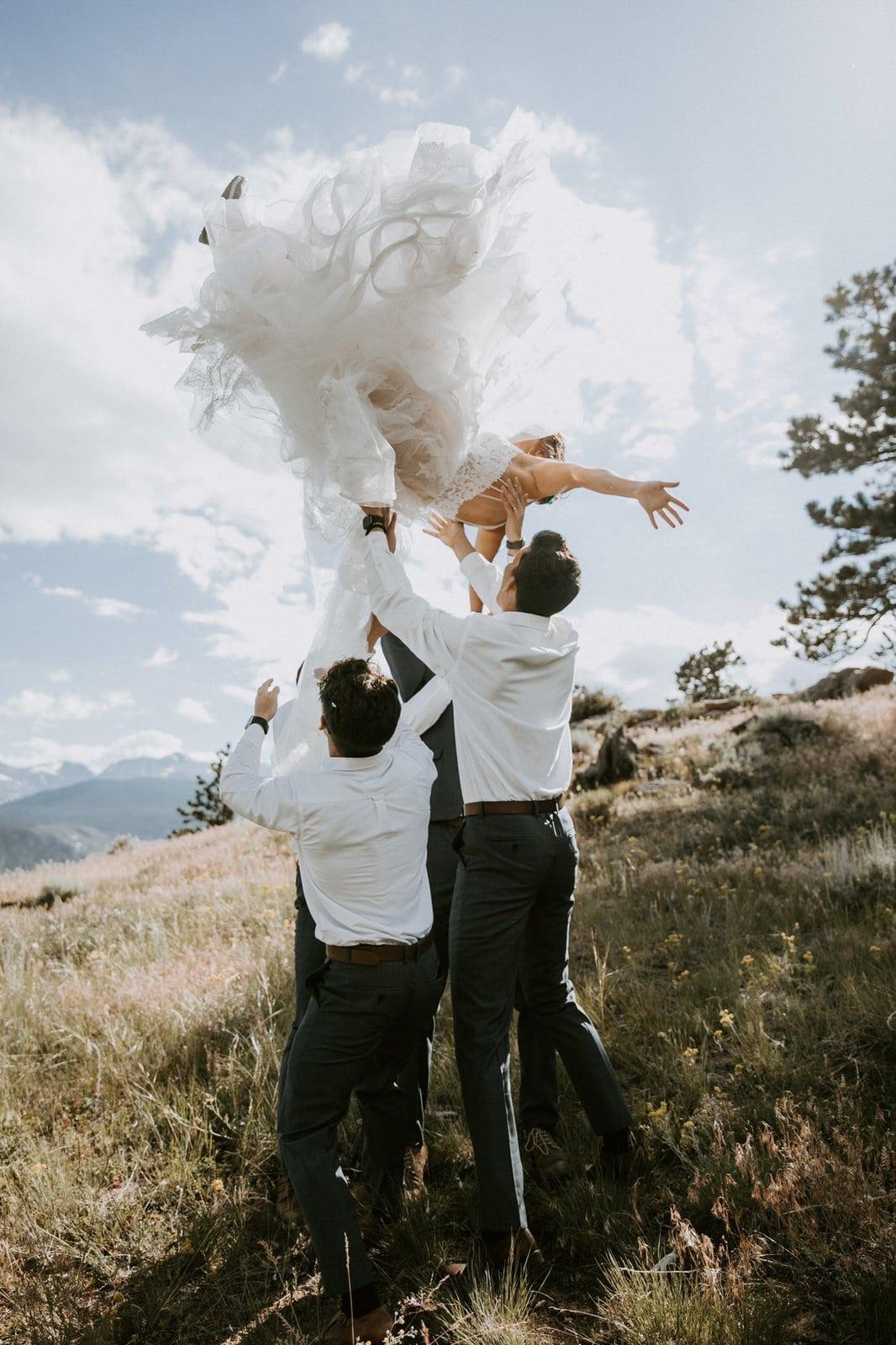 Groomsman throw up bride.